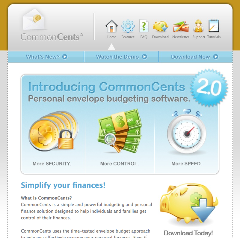 commoncents 20 is a personal finance software application that uses the time tested envelope budgeting method of which im a huge fan to help you better
